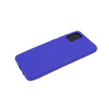 Силиконовый чехол Huawei Y6 2019 матовый, однотонный soft-touch, бархат внутри, фиолетовый