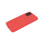 Силиконовый чехол Huawei P Smart 2021 матовый, однотонный soft-touch, бархат внутри, красный