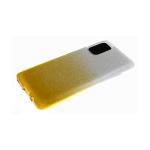 Силиконовый чехол Huawei Y5 2018 мелкие блестки 3в1 двухцветный, серо-желтый