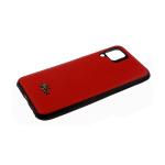 Силиконовый чехол Huawei Honor 9c мелкие ромбы с крокодилом, 3Д камера, черный борт, красный