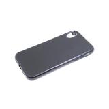 Силиконовый чехол Xiaomi Redmi Note 10 однотонный, глянцевый, без лого, черный
