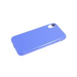 Силиконовый чехол Huawei Honor 10i однотонный, глянцевый, без лого, синий