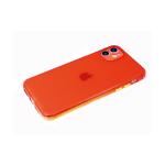 Силиконовый чехол Huawei Honor 9c однотонный, с цветными кнопками, антишок углы, красный