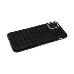Силиконовый чехол Samsung J710 Galaxy J7 2016 плетенка крупная, черный
