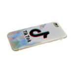Задняя крышка Xiaomi Redmi Note 8T прозрачный борт с принтом, тик ток на белом
