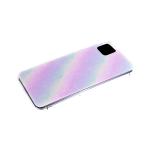 Силиконовый чехол Samsung Galaxy A11 разноцветный принт, прозрачный борт, белые пятна