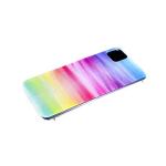 Силиконовый чехол Samsung Galaxy M01 разноцветный принт, прозрачный борт, размазанные краски