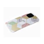 Чехол для Huawei Y6 2019 рисунок под мрамор, геометрические фигуры с блестками, белая