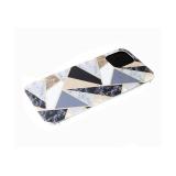Задняя крышка Huawei Honor 8X рисунок под мрамор, геометрические фигуры с блестками, черная