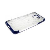 Силиконовый чехол Samsung Galaxy J4 core с эффектом битого стекла, синий