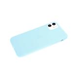 Силиконовый чехол Samsung Galaxy S20 FE Soft touch матовый без лого, бирюзовый