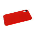 Силиконовый чехол Samsung Galaxy A02 2021 Soft touch матовый без лого, красный