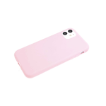 Силиконовый чехол Samsung Galaxy A52 Soft touch матовый без лого, розовый