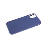 Силиконовый чехол Realme C3 Soft touch матовый без лого, темно-синий
