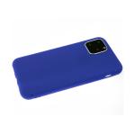 Силиконовый чехол Samsung Galaxy A02 2021 Soft touch матовый без лого, темно-синий