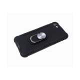 Чехол для Samsung Galaxy A21s трансформер, матовый soft-touch, с кольцом, черная
