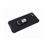 Задняя крышка Samsung Galaxy A21s трансформер, матовый soft-touch, с кольцом, черная