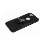 Задняя крышка Huawei Y6p 2020 трансформер, пластик+ силикон, с кольцом, черная