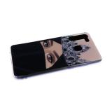 Силиконовый чехол Samsung Galaxy A41 прозр. силиконовый борт, Vinil, девушка с короной