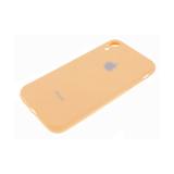 Силиконовый чехол Iphone 6/6S Soft Touch закрытый по периметру с серебристым лого, оранжевый