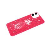 Задняя крышка Huawei Honor 9a цветной винил, крупные-мелкие блестки звездочки, ананас