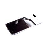 Задняя крышка Huawei Honor 9a цветной винил, прозрачный борт, черное авто
