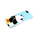 Задняя крышка Huawei Y5 2018/7A цветной винил, прозрачный борт, панда с сумкой