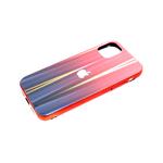 Задняя крышка Huawei Honor 9a кошачий глаз с лого, блестящий борт. красная