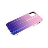 Задняя крышка Huawei Honor 9a кошачий глаз с лого, блестящий борт. розово-фиолетовая