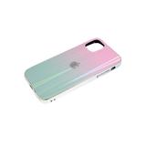 Задняя крышка Huawei Y6 2019 кошачий глаз с лого, блестящий борт. розово-зеленая