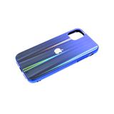 Задняя крышка Huawei Honor 9a кошачий глаз с лого, блестящий борт. синяя