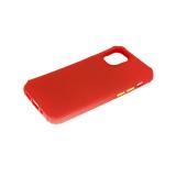 Силиконовый чехол Huawei Honor 9 Lite матовый soft-toch, цветные кнопки, антишок углы, красный