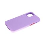 Силиконовый чехол Xiaomi Redmi 9a матовый soft-toch, цветные кнопки, антишок углы, сиреневый