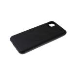 Силиконовый чехол Xiaomi Redmi Note 10 Lite однотонный, крупные полосы, черный борт, черный