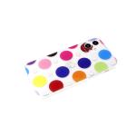 Задняя крышка Samsung Galaxy M11 прозрачная, рисунок с блестками, защита камеры, круги