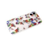 Задняя крышка Samsung Galaxy M51 прозрачная, рис. с блестками, защита камеры, крупные бабочки