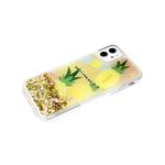 Задняя крышка Samsung Galaxy A32 4G прозрачный борт, цветные жидкие блестки, ананасы