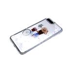 Задняя крышка Huawei Y6 2019 прозрачный борт, цветные жидкие блестки, рисунок внутри, and so the