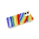 Задняя крышка Samsung Galaxy A11/M11 прозрачный, рис. поверх жидких блесток, разноцветный