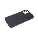 Силиконовый чехол Iphone 12 mini (5.4) ребристый, свап-защита камеры, черный