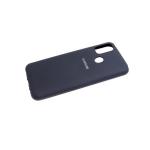 Силиконовый чехол Xiaomi Redmi 9c soft-touch, с логотипом, бархат внутри, черный