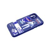 Задняя крышка Samsung Galaxy M51 стеклянная, цвет. принт, защита камеры, цвет. кнопки, космонавт
