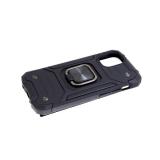 Задняя крышка Samsung Galaxy A51 трансформер, противоударный, квадратное кольцо, черная