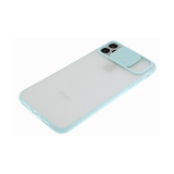 Задняя крышка матовый, с цветными краями и защитой камеры для Samsung Galaxy A31, бирюзовый