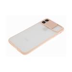 Задняя крышка матовый, с цветными краями и защитой камеры для Samsung Galaxy A21S, розовый