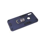 Чехол для Xiaomi Redmi 9 2in1 противоударный с кольцом, темно-синий