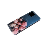Силиконовый чехол Xiaomi Redmi 9a блестки внутри, с рисунком, розовые пионы
