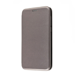 Чехол-книжка FaisON для SAMSUNG Galaxy M11, PREMIUM, CA-17, экокожа, на магните, цвет: серебряный