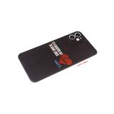 Силиконовый чехол Huawei Honor 8A/Y6 2019 цветной принт на черном, красные кнопки, сердце