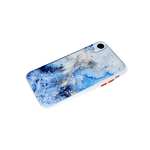 Чехол для Iphone 7/8 цветные кнопки, защита камеры, цветной мрамор, белая